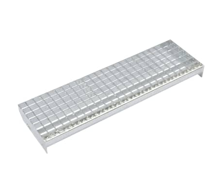 vidaXL Escalones 4 uds Press-locked acero galvanizado 700x240 mm