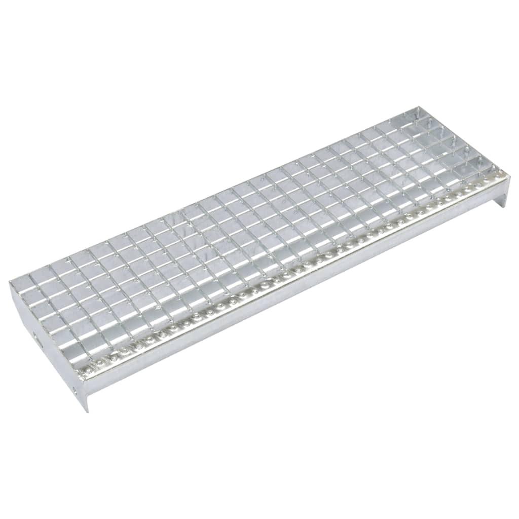 vidaXL Schodišťové stupně 4 ks slisovaná pozinkovaná ocel 800 x 240 mm