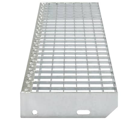 vidaXL Marches d'escalier 4 pcs Acier galvanisé pressé 800x240 mm[3/4]
