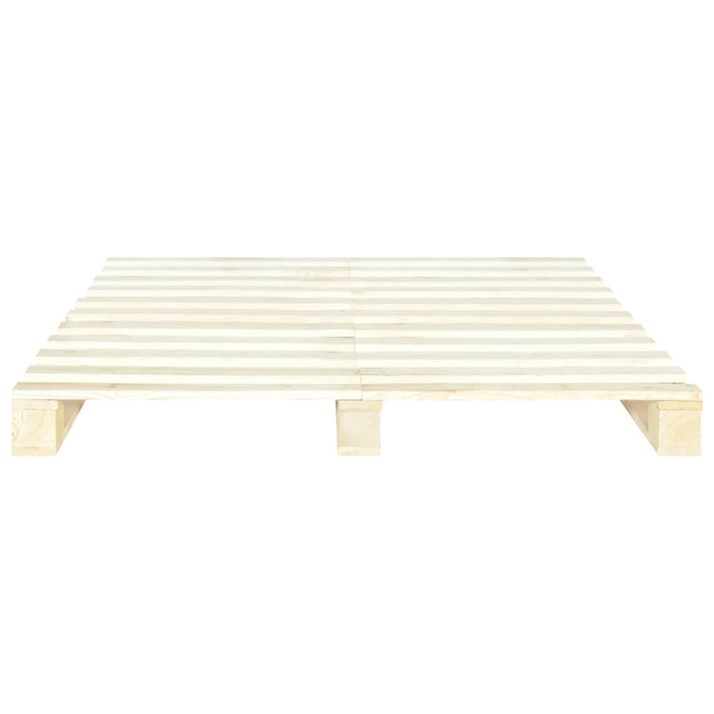 vidaXL Bedframe pallet massief grenenhout 140x200 cm