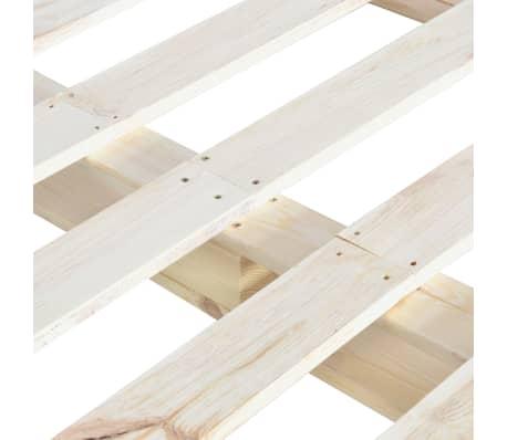 vidaXL Cadre de lit de palette Bois de pin massif 140 x 200 cm[5/6]
