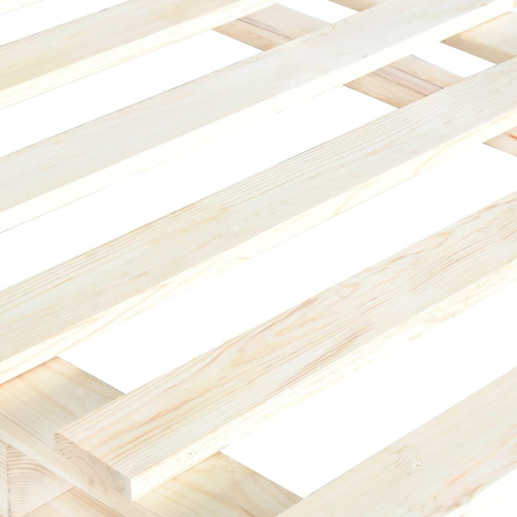 vidaXL Bedframe pallet massief grenenhout 100x200 cm