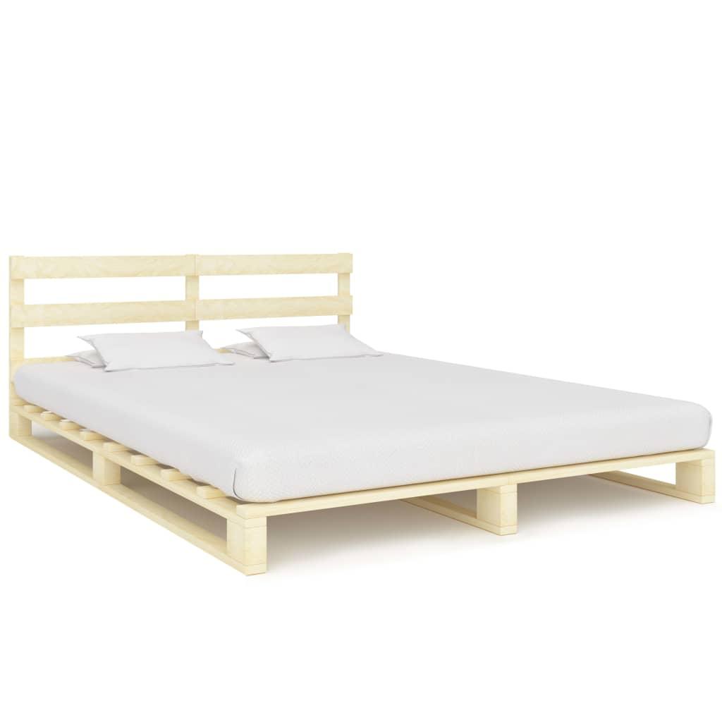 Kaubaalustest voodiraam tugevast männipuidust, 1..