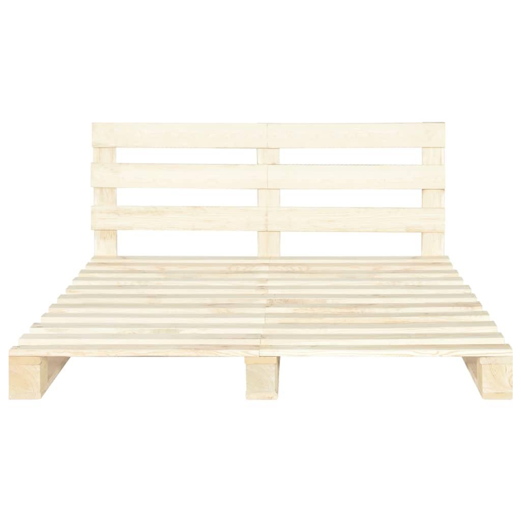 vidaXL Bedframe pallet massief grenenhout 180x200 cm