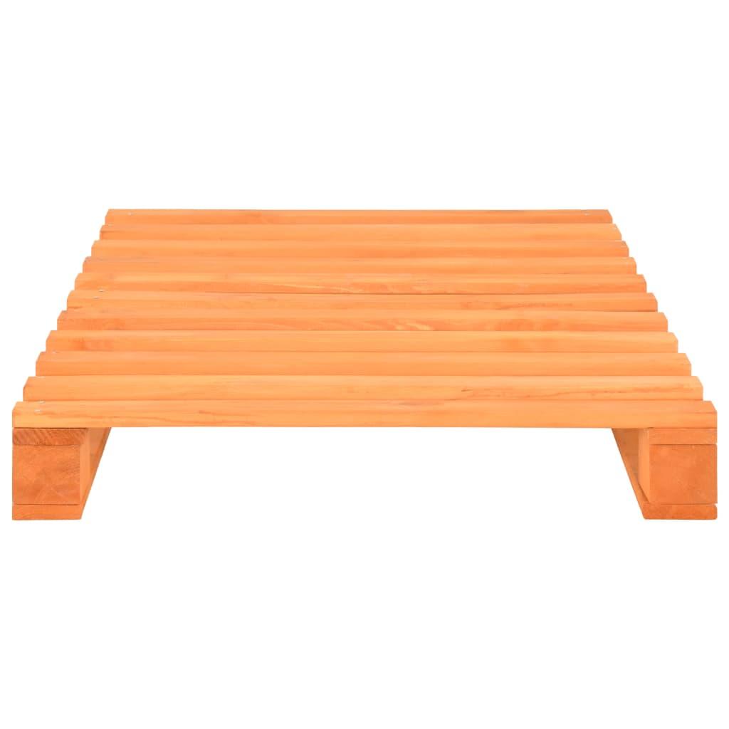 vidaXL Bedframe pallet massief grenenhout bruin 90x200 cm