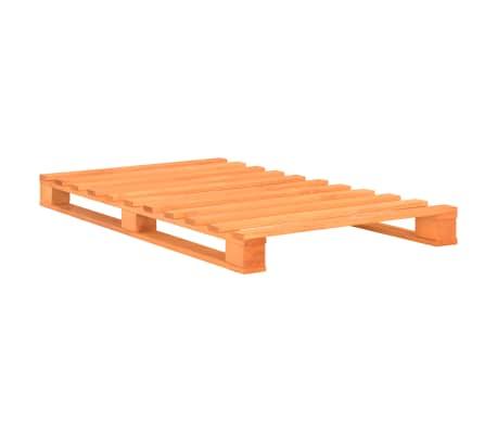 vidaXL Cadre de lit de palette Marron Bois de pin massif 90 x 200 cm[2/7]