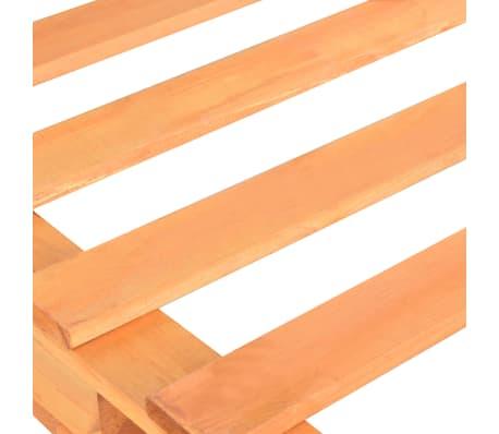 vidaXL Cadre de lit de palette Marron Bois de pin massif 90 x 200 cm[5/7]