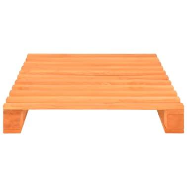 vidaXL Cadre de lit de palette Marron Bois de pin massif 90 x 200 cm[3/7]