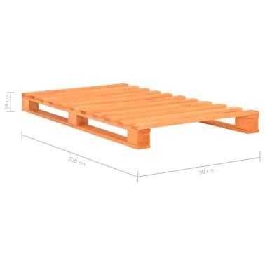 vidaXL Cadre de lit de palette Marron Bois de pin massif 90 x 200 cm[7/7]