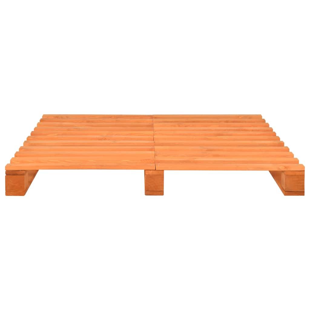 vidaXL Bedframe pallet massief grenenhout bruin 140x200 cm
