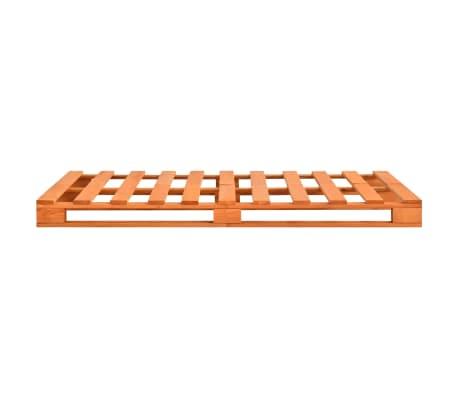 vidaXL Bedframe pallet massief grenenhout bruin 160x200 cm[4/7]