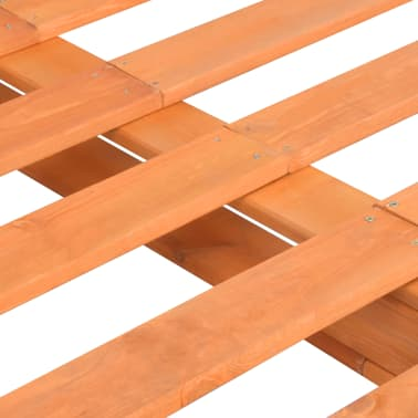 vidaXL Bedframe pallet massief grenenhout bruin 160x200 cm[5/7]