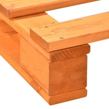 vidaXL Bedframe pallet massief grenenhout bruin 160x200 cm[6/7]