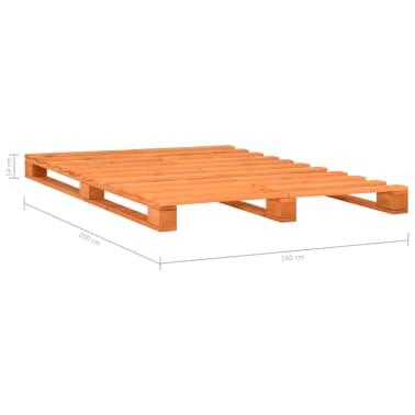 vidaXL Bedframe pallet massief grenenhout bruin 160x200 cm[7/7]