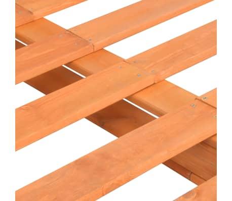 vidaXL Cadre de lit de palette Marron Bois de pin massif 180 x 200 cm[5/7]