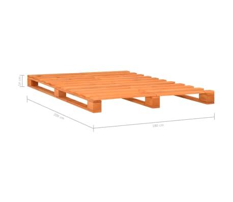 vidaXL Cadre de lit de palette Marron Bois de pin massif 180 x 200 cm[7/7]