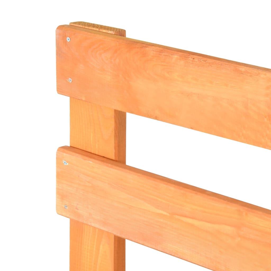 vidaXL Bedframe pallet massief grenenhout bruin 100x200 cm