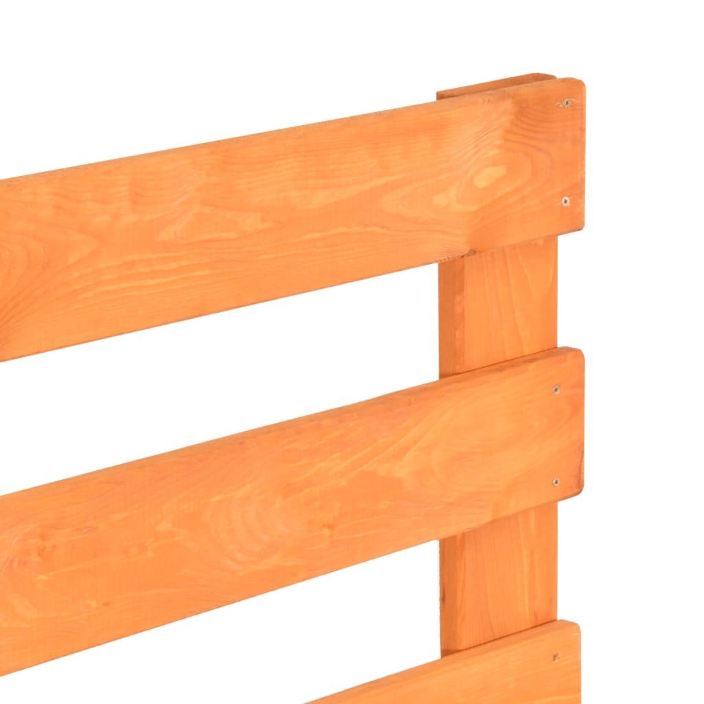 vidaXL Bedframe pallet massief grenenhout bruin 180x200 cm