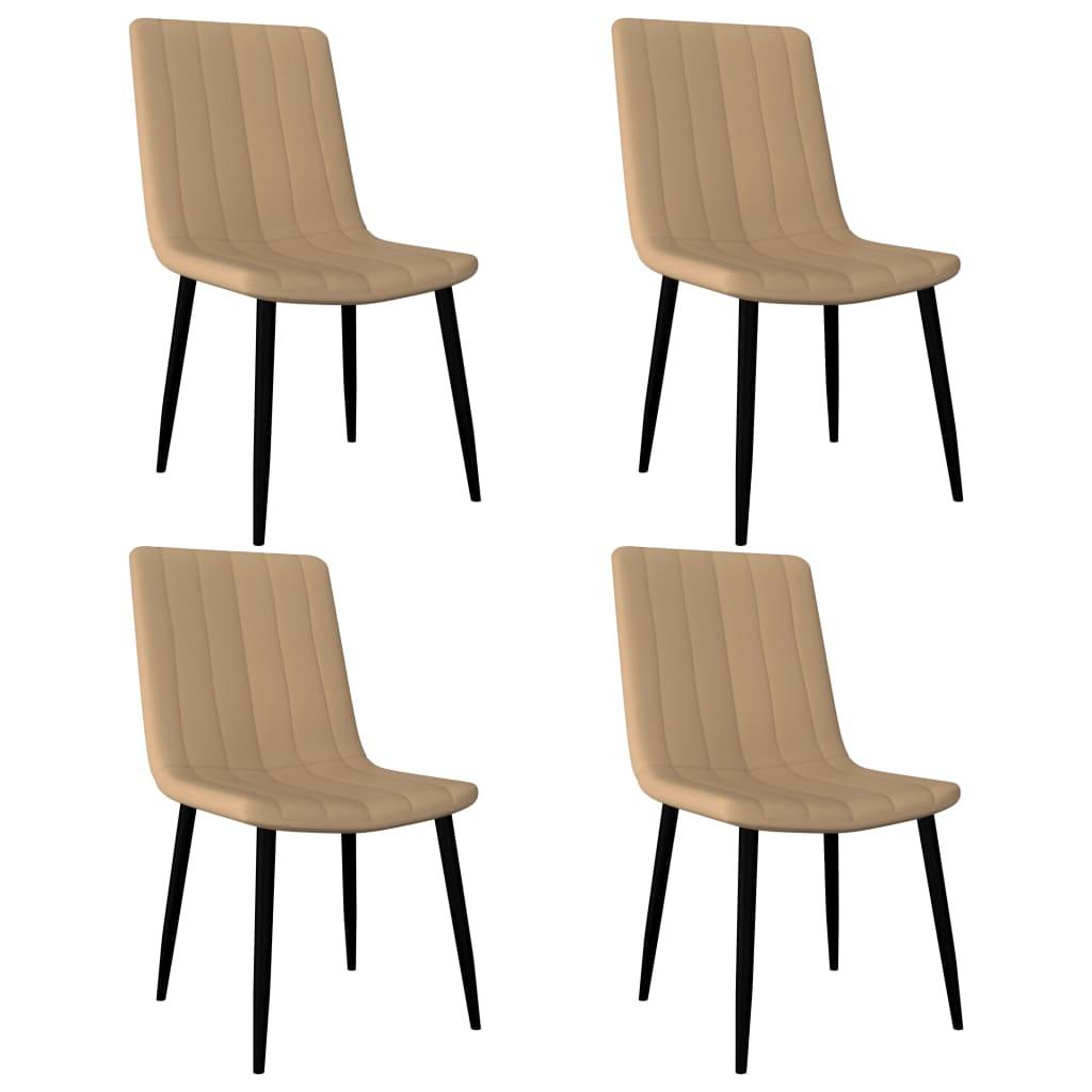 vidaXL Καρέκλες Τραπεζαρίας 4 τεμ. Κρεμ από Συνθετικό Δέρμα