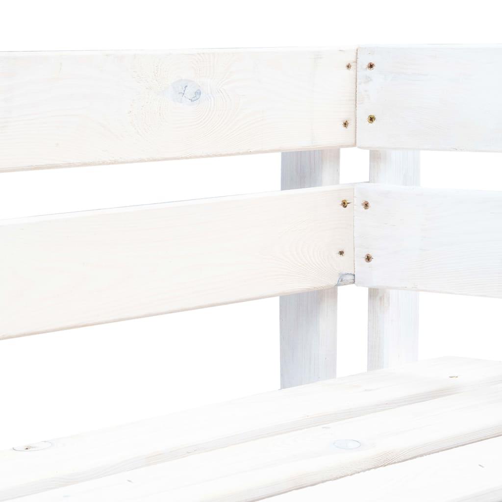Tuinhoekbank pallet hout wit