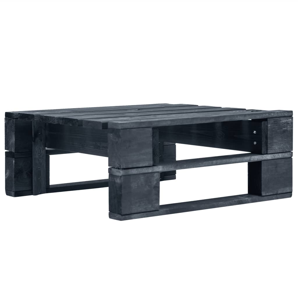 vidaXL Zahradní taburet z palet dřevo černý
