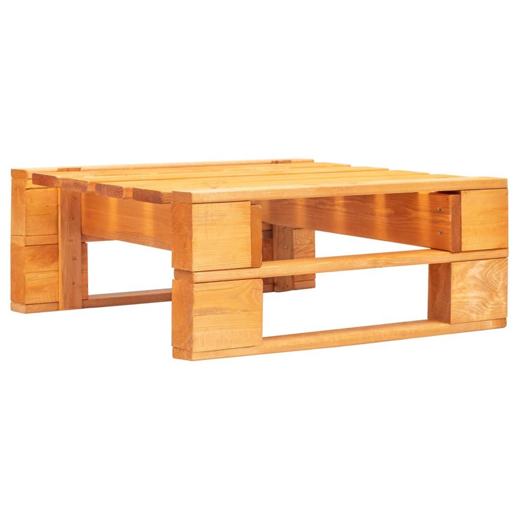 vidaXL Zahradní taburet z palet dřevo medově hnědý