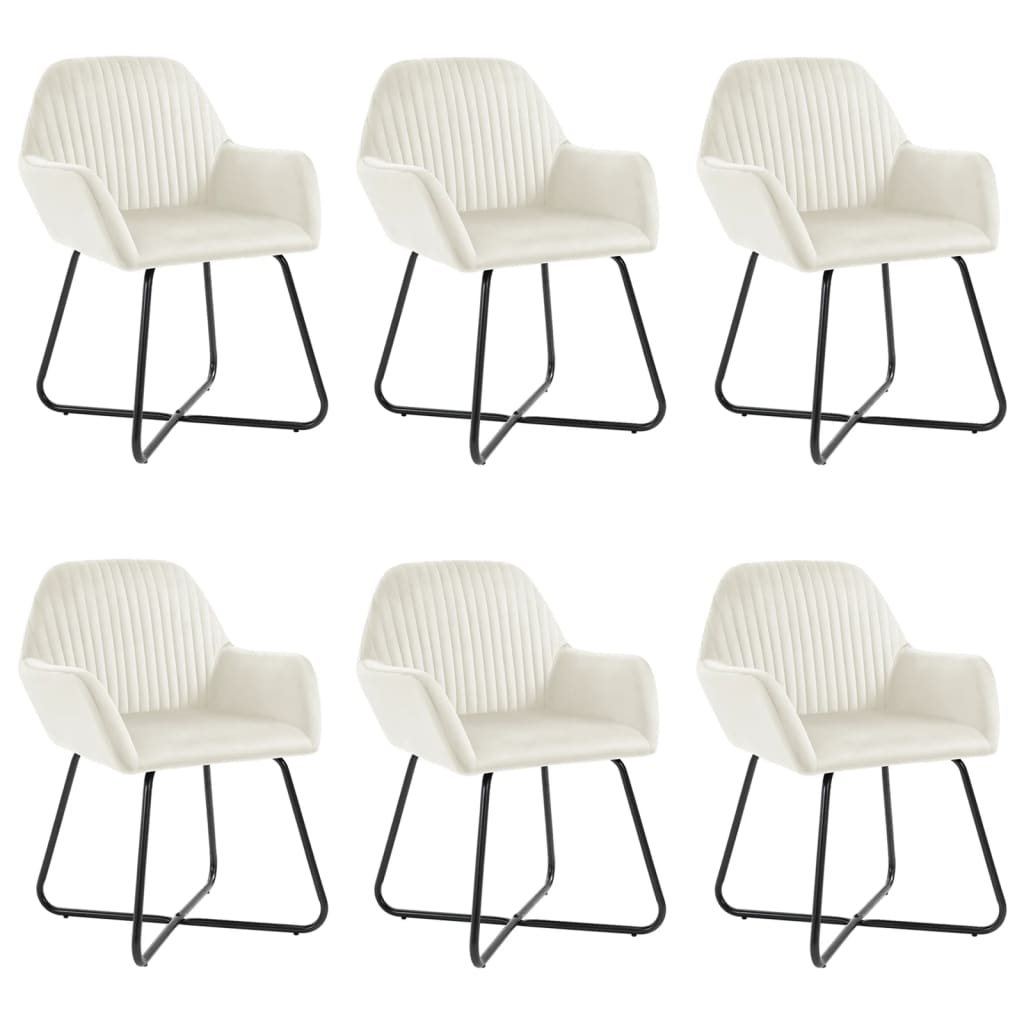 vidaXL Καρέκλες Τραπεζαρίας 6 τεμ. Καφέ Βελούδινες