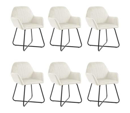 vidaXL Dining Chairs 6 pcs Ochre Velvet
