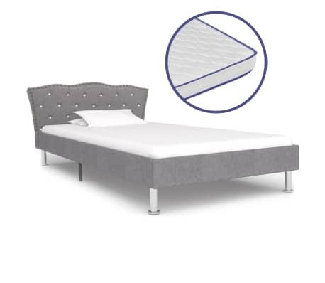 Traagschuim Matras 90 X 200.Vidaxl Bed Met Traagschuim Matras Stof Lichtgrijs 90x200 Cm