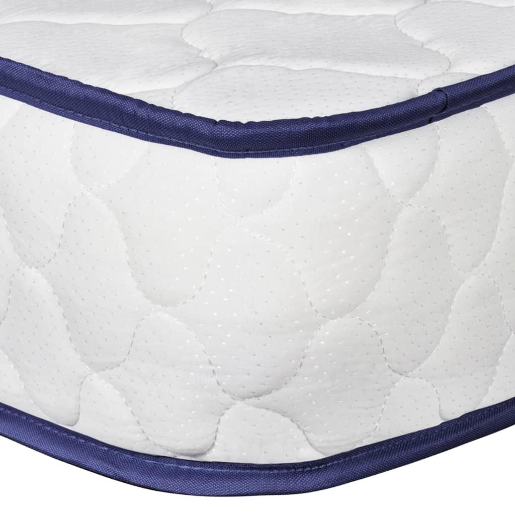 vidaXL Bed met traagschuim matras stof lichtgrijs 120x200 cm