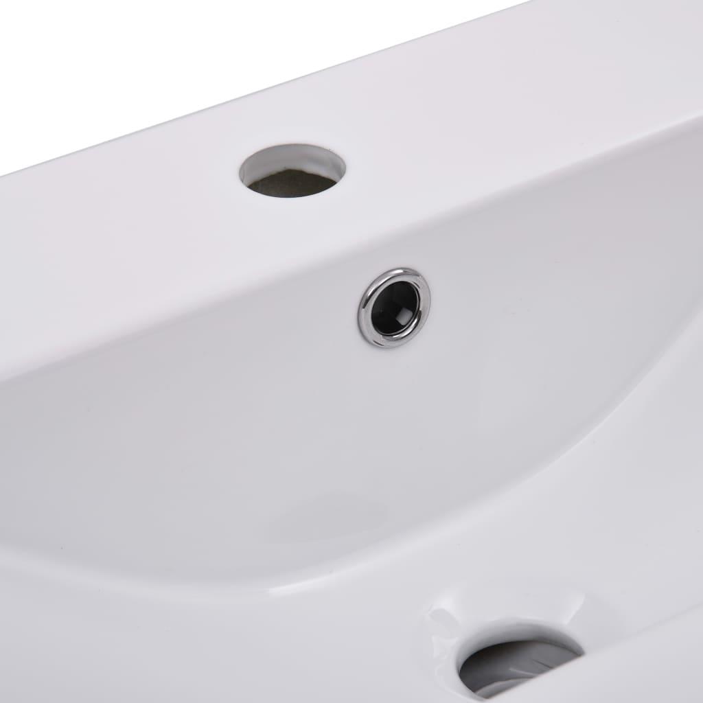 vidaXL Inbouwwastafel 61x39,5x18,5 cm keramiek wit