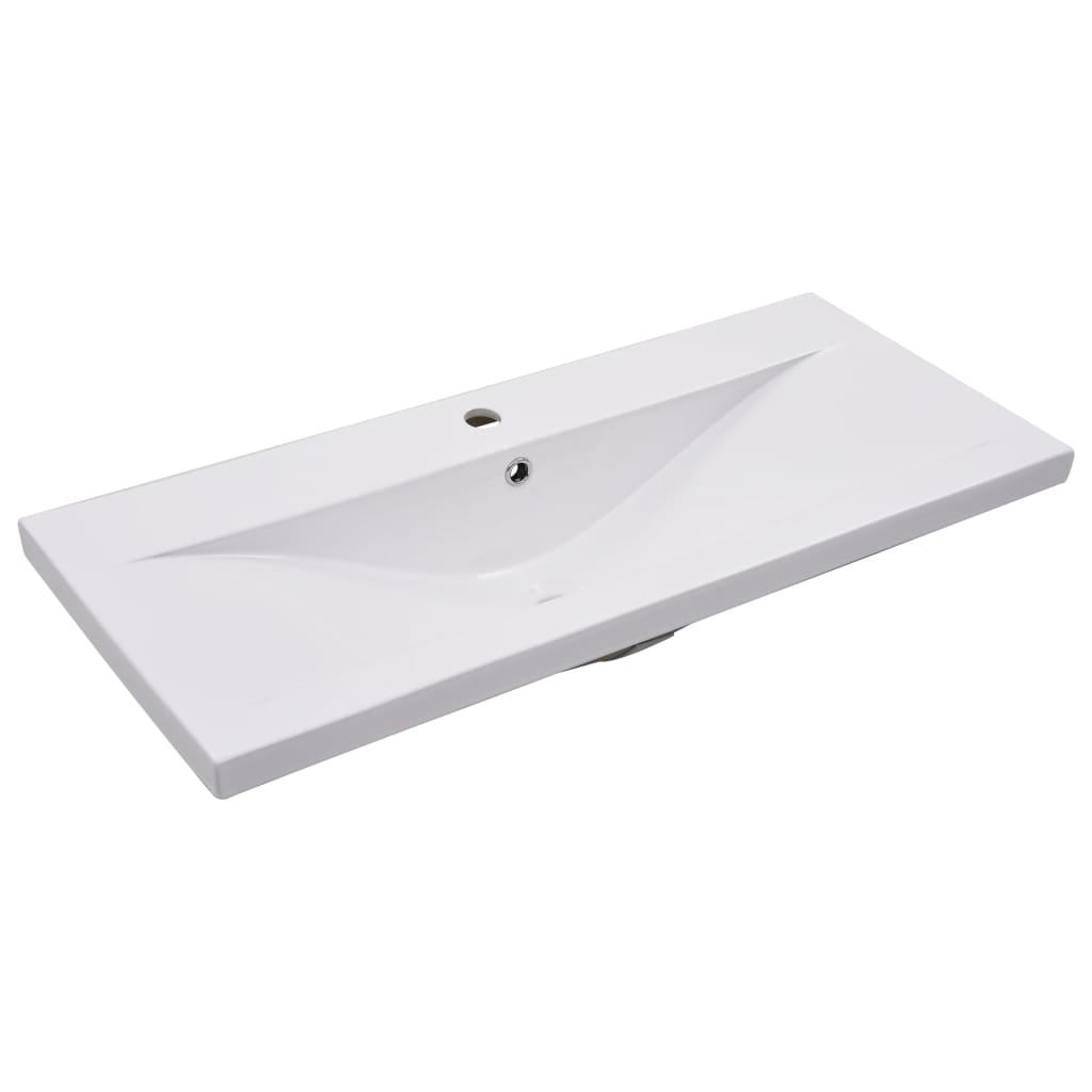 vidaXL Inbouwwastafel 91x39,5x18,5 cm keramiek wit