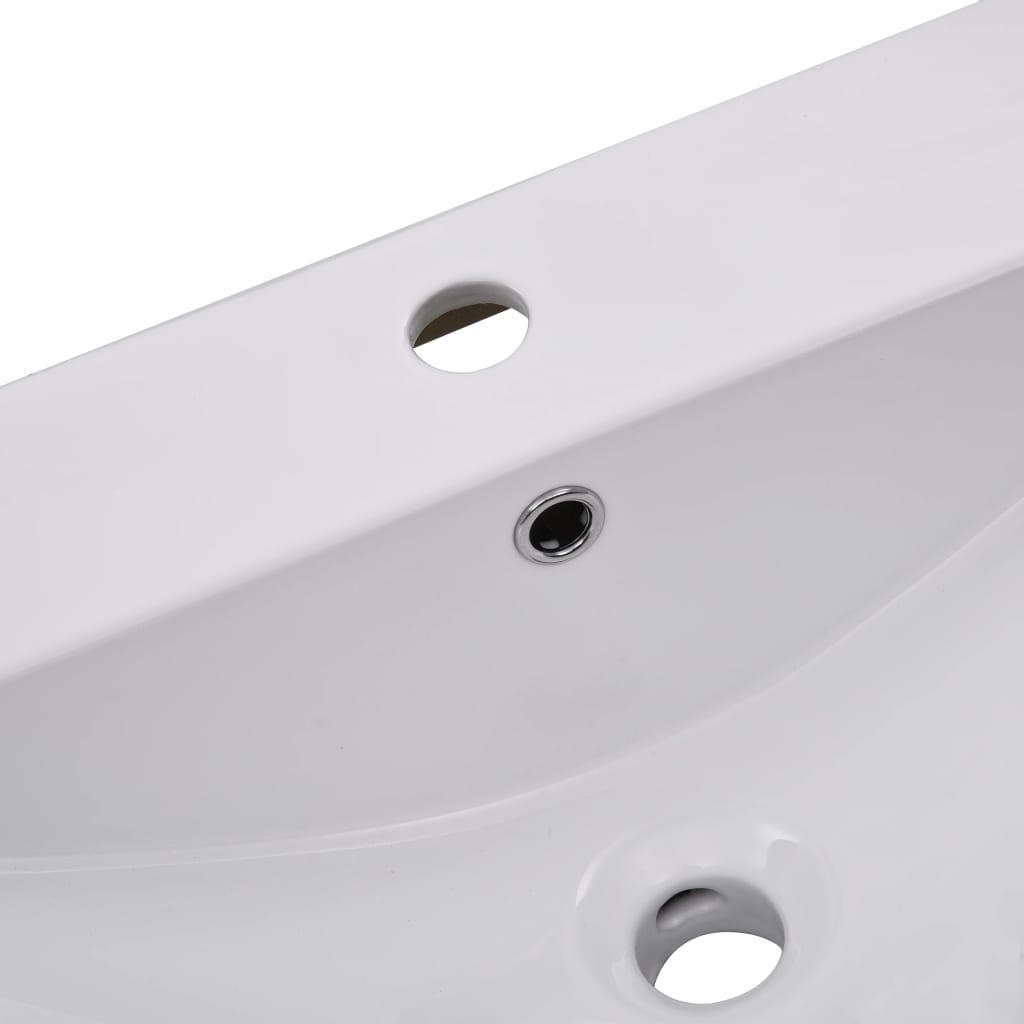 vidaXL Inbouwwastafel 101x39,5x18,5 cm keramiek wit