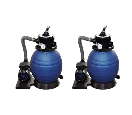 vidaXL Sand Filter Pumps 2pcs 400 W 11000 l/h