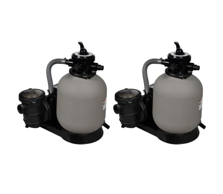 vidaXL Sand Filter Pumps 2 pcs 600 W 17000 l/h