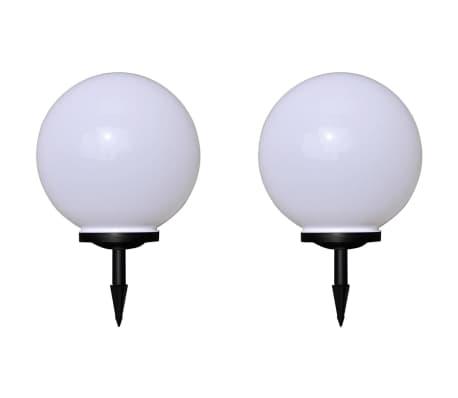 vidaXL Lampy do oświetlenia ścieżki, 2 szt., LED, 40 cm, z kołkami