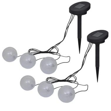 Vidaxl Pływające Lampy Led Do Oczka Wodnego I Basenu 6 Szt