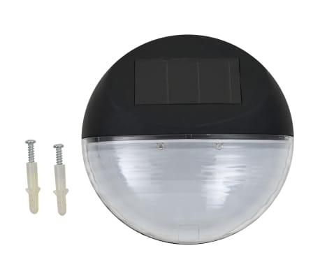 vidaXL Vonkajšie solárne nástenné LED svietidlá 24 ks okrúhle čierne[2/8]