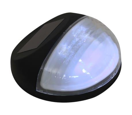 vidaXL Vonkajšie solárne nástenné LED svietidlá 24 ks okrúhle čierne[6/8]