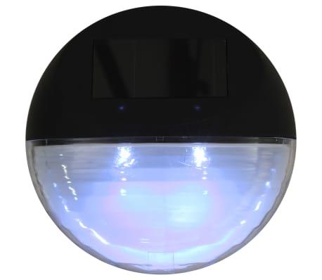 vidaXL Vonkajšie solárne nástenné LED svietidlá 24 ks okrúhle čierne[7/8]