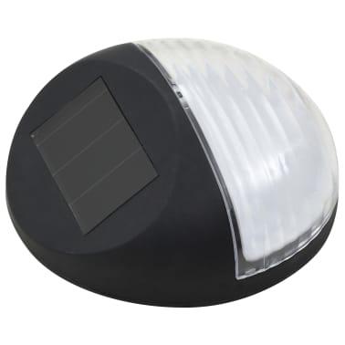 vidaXL Vonkajšie solárne nástenné LED svietidlá 24 ks okrúhle čierne[3/8]