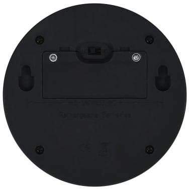 vidaXL Vonkajšie solárne nástenné LED svietidlá 24 ks okrúhle čierne[8/8]