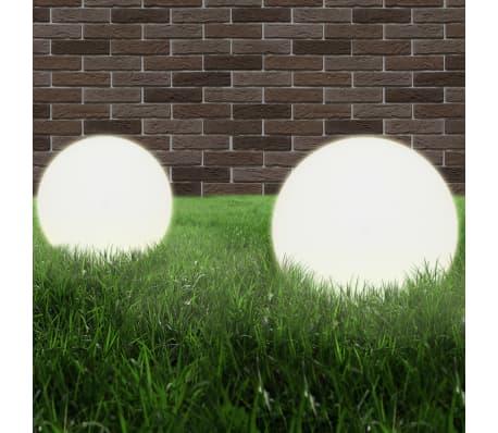 vidaXL Lampy ogrodowe LED, 4 szt., kuliste, 40 cm, PMMA[2/8]