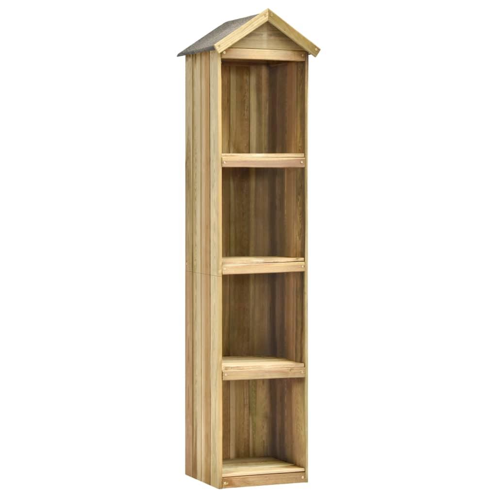 vidaXL Tuinschuur 36x36x163 cm geïmpregneerd grenenhout