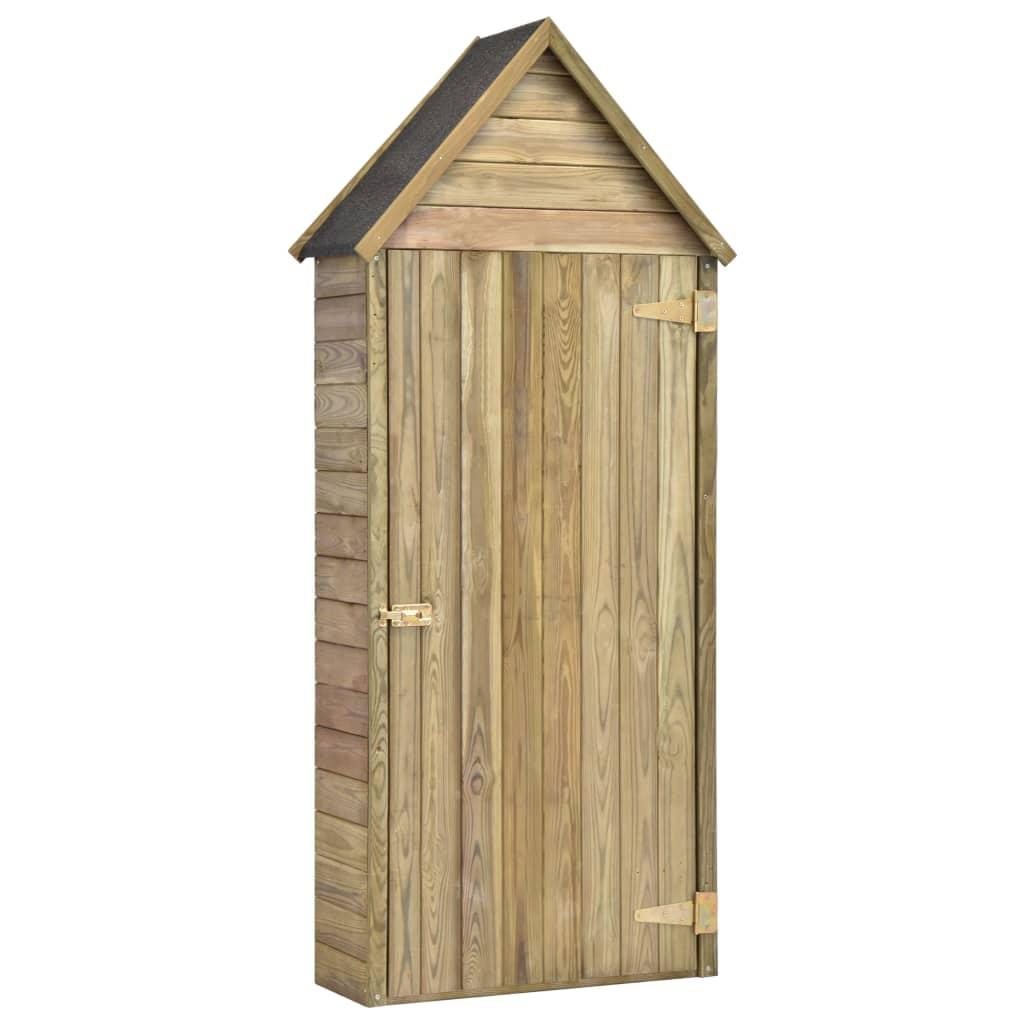 vidaXL Magazie unelte de grădină cu ușă 77x37x178 cm lemn pin tratat poza vidaxl.ro