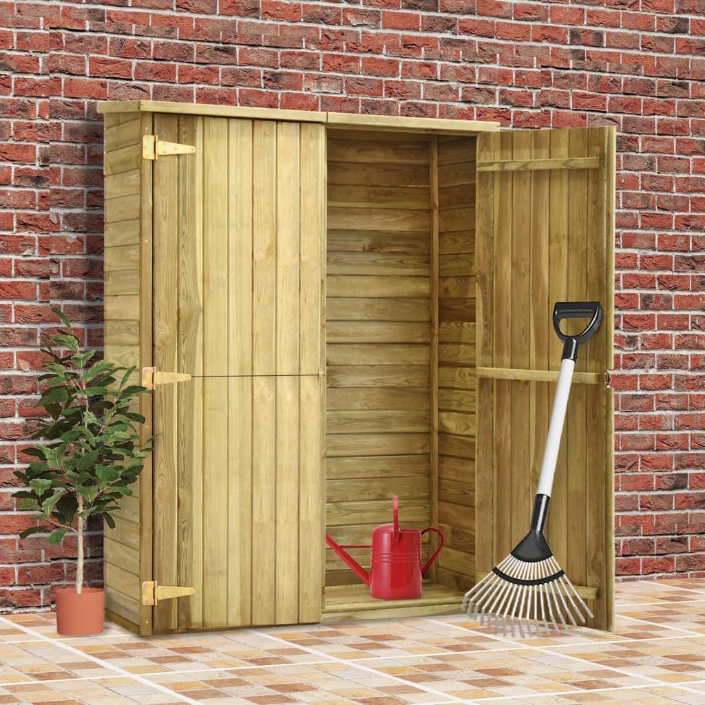 vidaXL Magazie unelte de grădină, 123x50x171 cm, lemn pin tratat poza vidaxl.ro