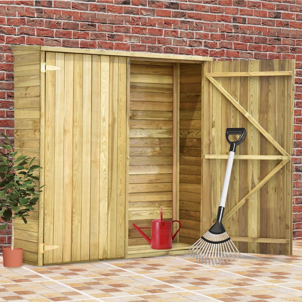 vidaXL Magazie unelte de grădină, 163x50x171 cm, lemn pin tratat poza vidaxl.ro