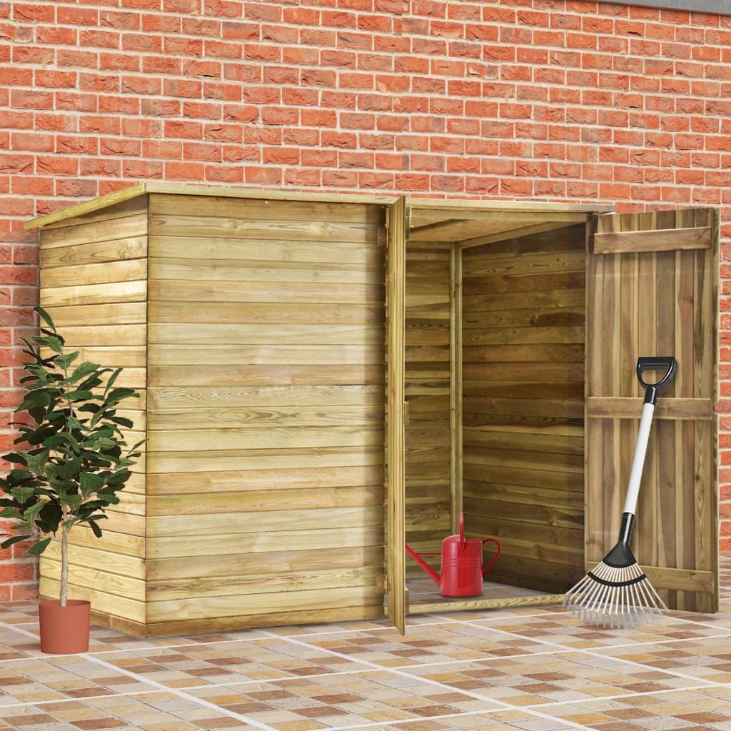 vidaXL Magazie unelte de grădină, 232x110x170 cm, lemn pin tratat poza vidaxl.ro