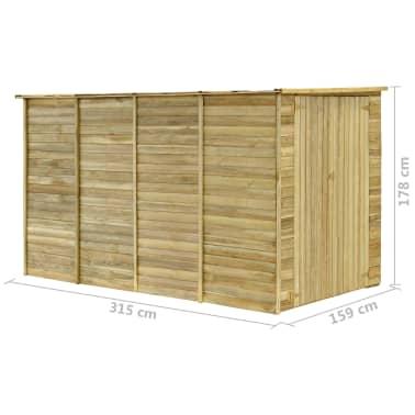 vidaXL Záhradný domček / kôlňa 315x159x178 cm impregnovaná borovica[9/9]