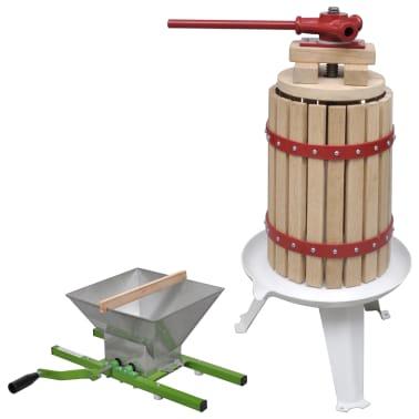 vidaXL Preša in drobilnik za sadje in vino 2-delni komplet[1/11]